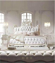 Wood Bedroom Set,home furniture fancy bedroom set,French antique bedroom furniture sets,luxury classical bedroom furniture set