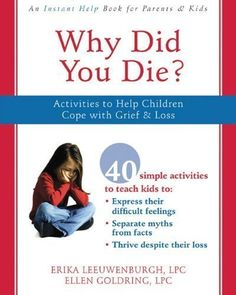 Why Did You Die?: Activities to Help Children Cope with Grief and Loss Workbook Edition by Goldring LPC, Ellen, Leeuwenburgh LPC, Erika published by Instant Help (2008) null http://www.amazon.com/dp/B00E29GICY/ref=cm_sw_r_pi_dp_EH5.ub0KX5RQC