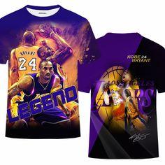 Kobe Bryant Tee Fullprint Tshirt for Women/'s