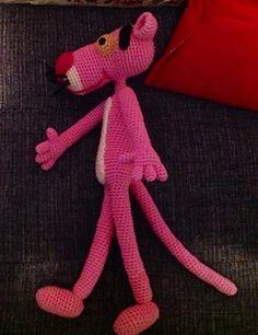 Pink Panther Amigurumi - Free crochet pattern by Edward Yong
