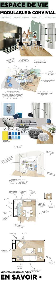 Coaching Déco : Agencement d'un espace de vie modulable et convivial  http://www.homelisty.com/mism-coaching-deco-espace-vie-convivial/