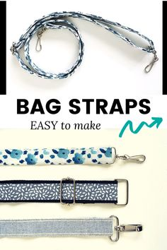 Latest Screen How to make adjustable bag straps Strategies Learn how easy it is to make bag straps, from webbing, or fabric, super easy. Great way to add your Diy Tote Bag, Diy Purse, Pouch Bag, Diy Clutch, Diy Handbag, Pouches, Diy Bags Purses, Sew Bags, Fabric Purses