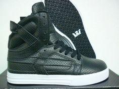 Supra Skytop II Mens Shoes In Black White Punching af2997b142