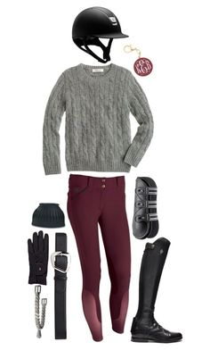 """""""maroon and black rootd"""" by a-circuit-equestrian on Polyvore featuring J.Crew, Roeckl and rootd"""
