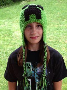 Minecraft Creeper Inspired Green Crochet by SteelCityStitcher, $16.99