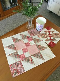 Scrappy Quilt Patterns, Quilt Square Patterns, Pattern Blocks, Square Quilt, Asian Quilts, Place Mats Quilted, Quilt Of Valor, Pink Quilts, Star Quilt Blocks