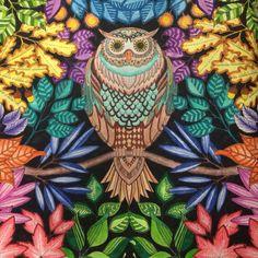Mandala Owls Secret Garden De Corujas Jardim Secreto