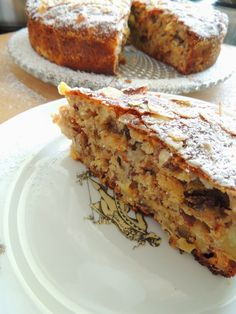Apple Cake Recipes, Dessert Recipes, Breakfast Menu, Polish Recipes, Food Cakes, Homemade Cakes, Food To Make, Biscotti, Brunch