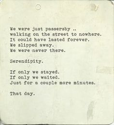 Serendipity. One of my favorite words...❤️