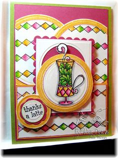 Nice color combo and great tute on how to use your die cuts with a larger stamp.