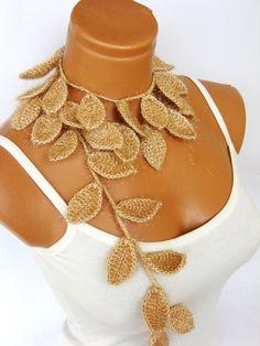 Crochet lariat scarf