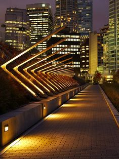 Canadian artist Jill Anholt has sent us her 'Line of Work' installation that she created for the edge of a pedestrian pathway next to the new Vancouver Convention Centre.