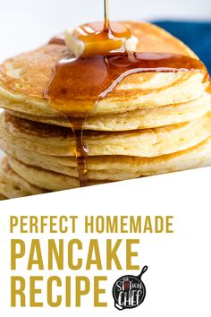 The Perfect Homemade Pancake Recipe is easy to make with ingredients you probably already have on hand. This recipe can easily be turned into a pancake mix or into buttermilk pancakes as well. It& the perfect versatile all-in one recipe. Tasty Pancakes, Homemade Pancakes, Buttermilk Pancakes, Pancakes And Waffles, Waffle Recipes, Pastry Recipes, Cooking Recipes, Sweet Pastries, Bread And Pastries