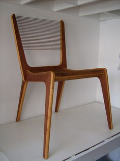 Canadian string chair designed by Jacques Guillon 1950,Montreal