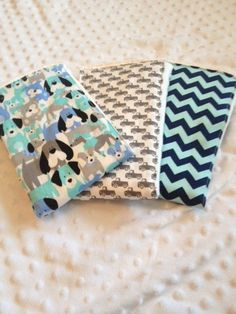 Set of 3 Burp Cloths by PinkPancakeDesigns on Etsy