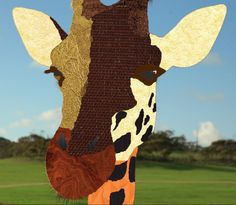 This image of a giraffe is in the style of Liesl Pfeffer, where I got different textures colours from google  #art #giraffe #colours #textures #LieslPfeffer #google #style #different #Photoshop