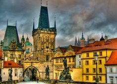 Prague Czech Republic - Charles Bridge and Lesser Town Towers   Flickr - Photo Sharing!