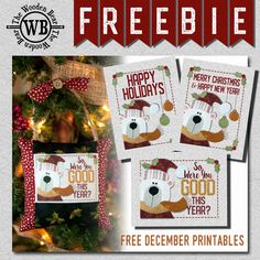 FREEBIE December Printable by The Wooden Bear. Pillow ornament using EQ Printables Inkjet Fabric Sheets. Happy Merry Christmas, Christmas Holidays, Christmas Crafts, Electric Quilt, Small Sewing Projects, Bear Design, Vinyl Sheets, Table Toppers, Printable Stickers