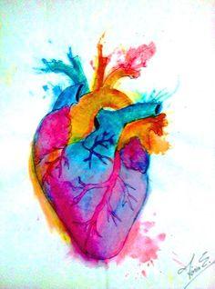 Corazón acuarela