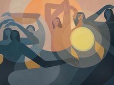 Laura Berger, Yoga Illustration, Color Studies, Art For Art Sake, Small Paintings, Muted Colors, Figure Painting, Contemporary Art, Backdrops