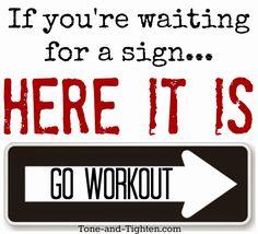 Gym Motivation: STOP. THINK. GO. | Her Campus