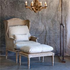 Aidan Gray Furniture Stephan Chair with Ottoman