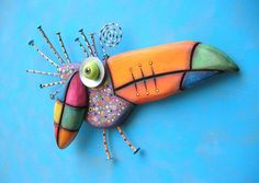 Toucan Baby, MADE to ORDER, Found Object Wall Sculpture, Wood Carving, Wall Decor, Animal Sculpture, Bird Sculpture, by Fig Jam Studio by FigJamStudio on Etsy https://www.etsy.com/listing/238313810/toucan-baby-made-to-order-found-object