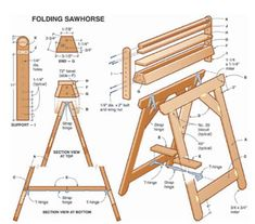 Folding Sawhorse  Another useful accessory is a removable top board that can be modified to serve several purposes. To avoid damaging your sawhorses during cutting applications, attach a piece of scrap stock to act as sacrificial top board. To protect finished workpieces from scratches, cover the removable top board with a carpet scrap. Or turn your sawhorse into an outfeed support by making an outfeed roller that attaches to the removable top board (photo 3).