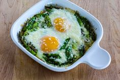 Baked Eggs and Asparagus with Parmesan (Low-Carb, Gluten-Free) | Kalyn's Kitchen®