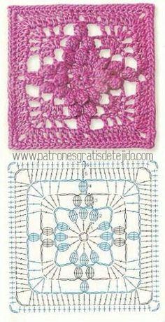 Transcendent Crochet a Solid Granny Square Ideas. Inconceivable Crochet a Solid Granny Square Ideas. Granny Square Crochet Pattern, Crochet Blocks, Crochet Motifs, Crochet Diagram, Crochet Stitches Patterns, Crochet Chart, Crochet Squares, Crochet Granny, Diy Crochet