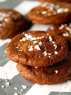 Salted Nutella-Stuffed Double Chocolate Cookies These are soooooo  good!!!!