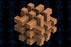18-Pieces Puzzle Wooden Toy - SOLIDWORKS,STEP / IGES,Parasolid - 3D CAD model - GrabCAD