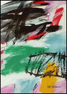N°671 Pat Pellerin. Acrylique et crayon gras sur carton toilé 30x40 cm.