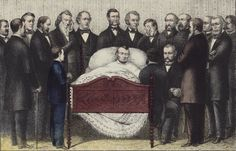 Death of Abraham Lincoln, by E.B. & E.C. Kellogg, Poignant. A Fine-art Photographic Print from the Library of Congress Collection.
