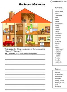 House Parts 2 worksheets