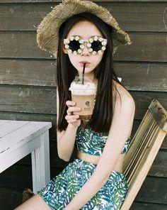 Kfashion Ulzzang, Ulzzang Girl, Seoul Fashion, Korean Fashion, Asian Style, Korean Style, Summer Picnic, Spring Summer, Girl With Hat