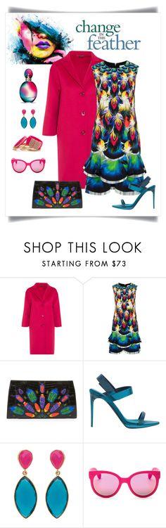 """Mary Katrantzou Sandra Printed Tiered Mini Dress"" by romaboots-1 ❤ liked on Polyvore featuring Gucci, Mary Katrantzou, Nancy Gonzalez, Burberry, ShoeDazzle, Havaianas and Missoni"