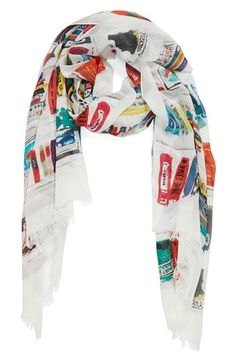 I'm insane for this scarf!!!  LOVE.  kate spade new york 'library illustration' scarf available at #Nordstrom