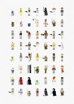 movie character illustration series of famous Hollywood Movies by Fitz Fitzpatrick