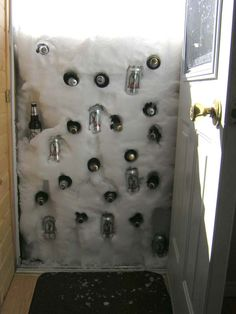 Homemade winter beer fridge