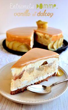 entremets pomme vanille et dulcey
