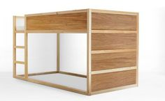 Found on Hellobee.com! Panyl sells different...panels! For lots of IKEA products. Paint bed white with walnut panels!