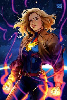 Carol Danvers/Captain Marvel by Marvel Girls, Ms Marvel, Marvel Avengers, Marvel Comics, Arte Dc Comics, Marvel Women, Marvel Heroes, Captain Marvel Carol Danvers, Super Anime