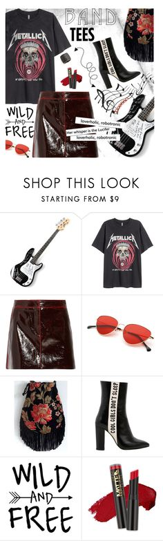 """""""I'm With the Band: Band T-Shirts"""" by lacas ❤ liked on Polyvore featuring TIBI, Havva, L.A. Girl, Tom Binns, bandtshirt and bandtees"""