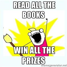 All the books all the prizes library summer reading program meme