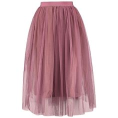 Boutique Aya Tulle Full Midi Skirt (7,79 RON) ❤ liked on Polyvore featuring skirts, bottoms, purple midi skirt, tulle midi skirt, purple skirt, calf length skirts and knee length tulle skirt