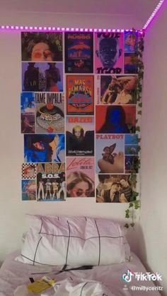 op de gyproc muur Indie Bedroom, Indie Room Decor, Cute Bedroom Decor, Aesthetic Room Decor, Room Ideas Bedroom, Bedroom Inspo, Hipster Room Decor, Men Bedroom, Chambre Indie