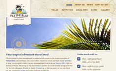 Vila do Paraiso - a travel website we designed and developed for a luxury Mozambique travel lodge