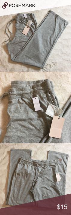 """LOVE by GAP lounge pants NEW NWT Lounge pants.  LOVE By GAP.  Soft and cozy.  💯 cotton.  Wide leg, light heather gray.  Size XS  Measures 14"""" across top of waist.  Rise is 10"""" inseam is 31""""  Check out my other listings to bundle and save 🍑 GAP Pants Wide Leg"""
