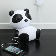 Portable panda stereo! Check out www.pandathings.com for other adorable products.